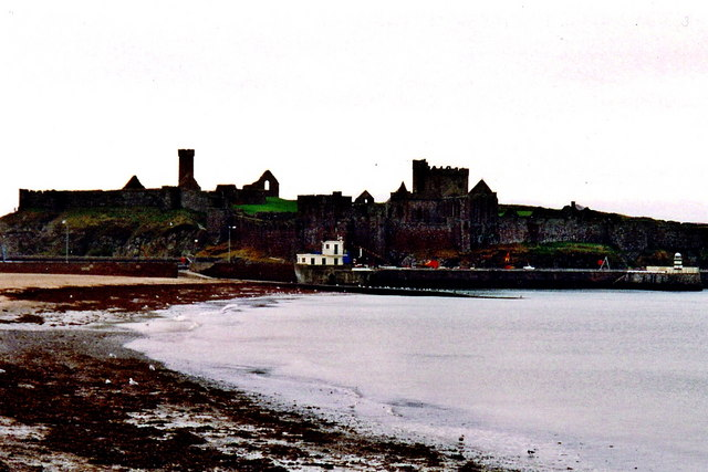 Peel - Castle view from east end of Shore Road