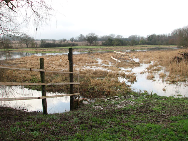 Flooded pasture west of Ipswich Road (A140)