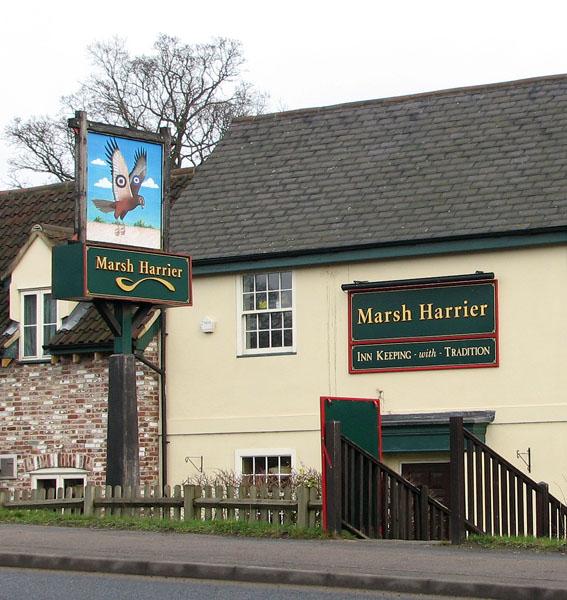 The Marsh Harrier public house (detail)