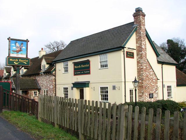 The Marsh Harrier public house on Ipswich Road (A140)
