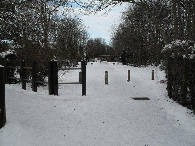 A snowy scene at Town End Car Park