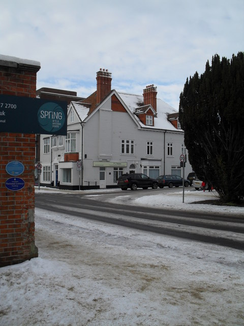 Looking from Spring Arts Centre across Emsworth Road towards the travel agents