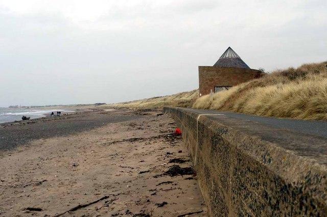 Scottish Water sewage pumping station at Prestwick beach