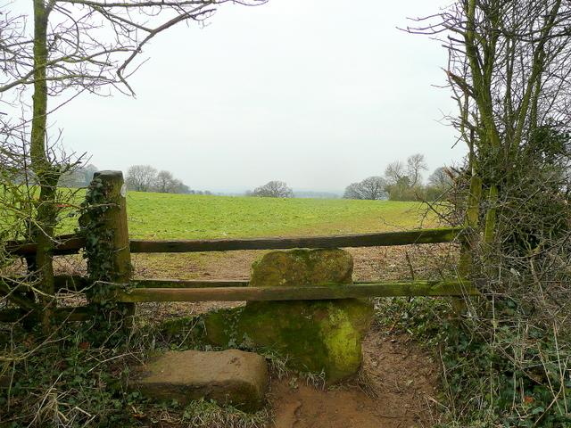Stone stile by Field Lane