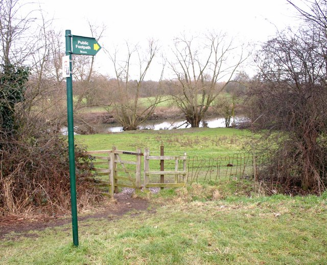 Footpath alongside the River Soar, Quorn