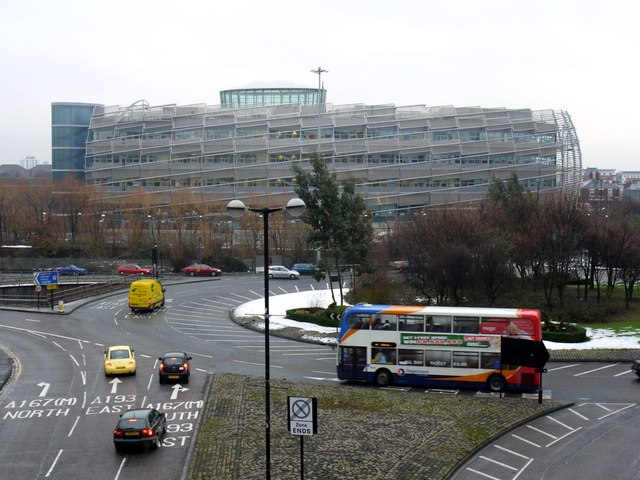 Roundabout, above the Central Motorway from Durant Road