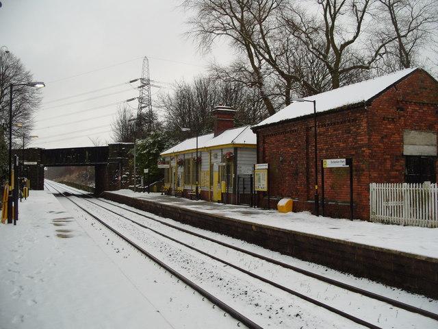 Eccleston Park Station in Snow