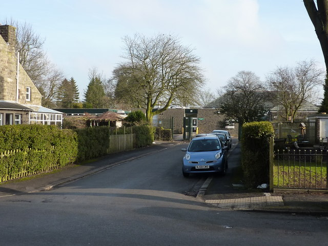 Entrance to Buxton Library, Kents Bank Road