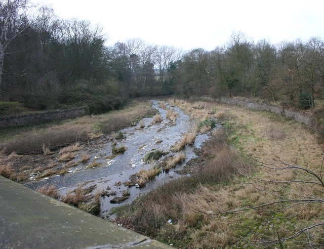 The spillway from Swithland Reservoir