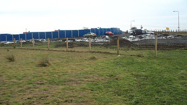 Works compound : Bathgate- Airdrie railway