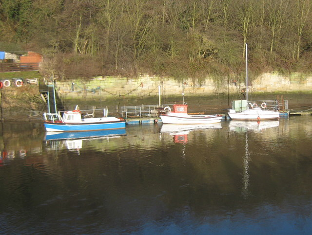 Boats at moorings on the River Wear