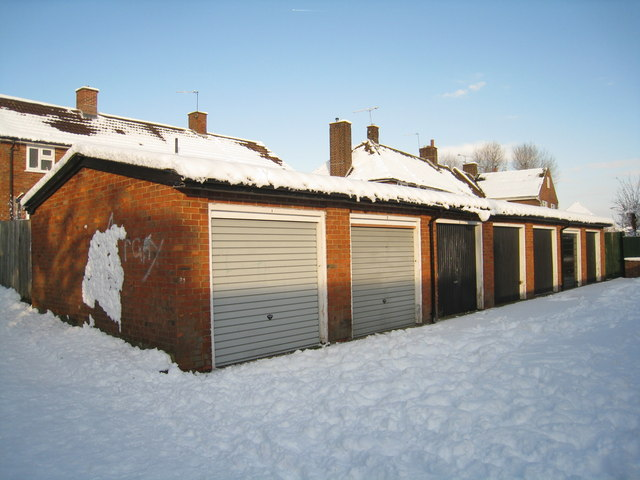 Garages behind Soper Grove