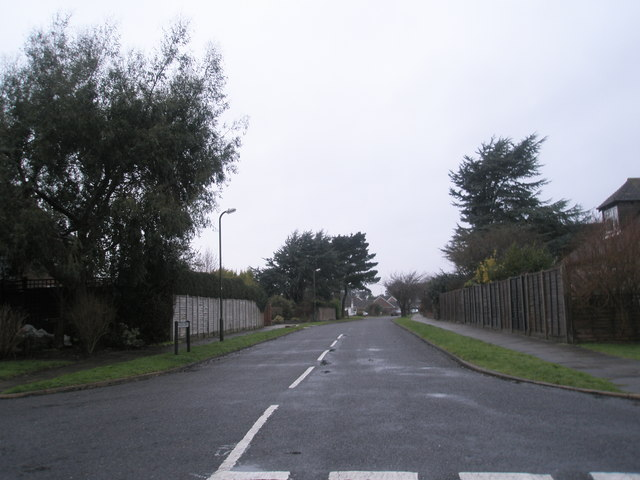 Looking from Pigeonhouse Lane into Hudson Drive