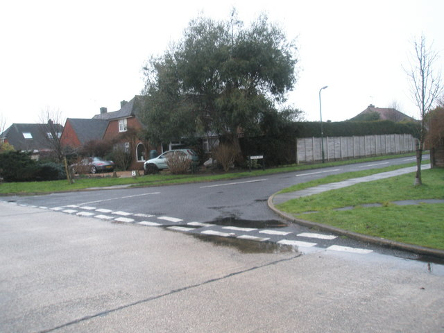 Junction of Pigeonhouse Lane and Hudson Drive