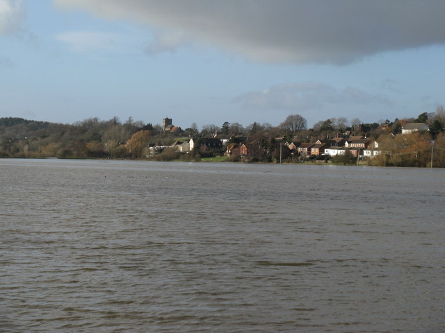 View to Pulborough from levee on flood plain