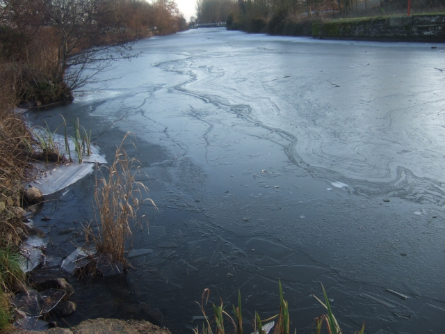 Ice on the Exeter Canal