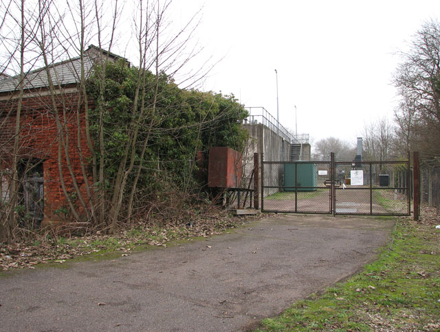 Gate into Trowse sewage works