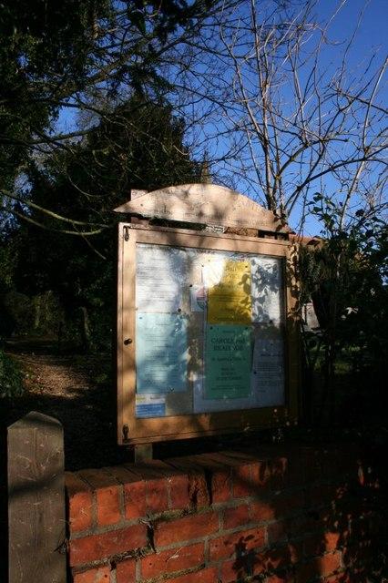 Notice board on Sotwell Street