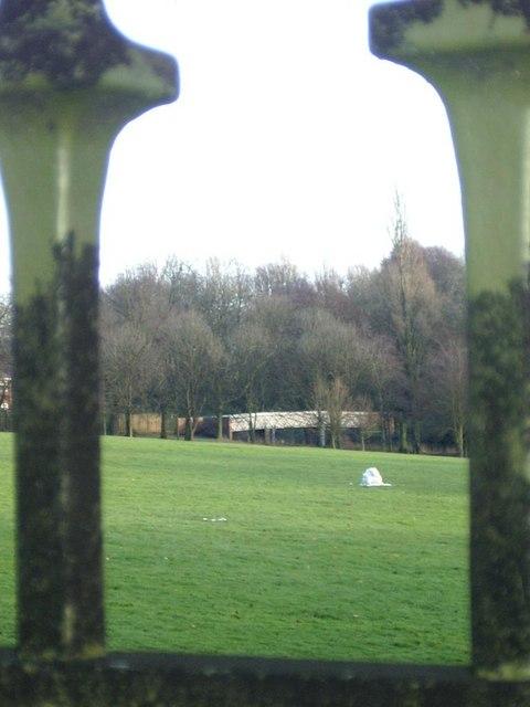 Handsworth Park through railings
