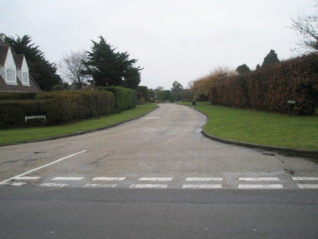 Looking from Angmering Lane into Myrtle Grove