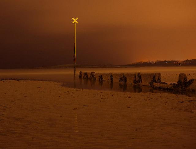 Ballyholme Beach at night