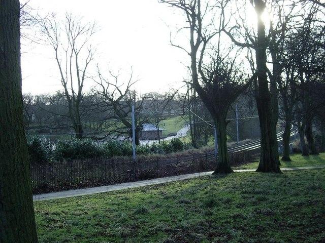 Handsworth Park and railway