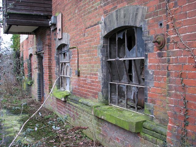 Trowse pumping station - broken windows