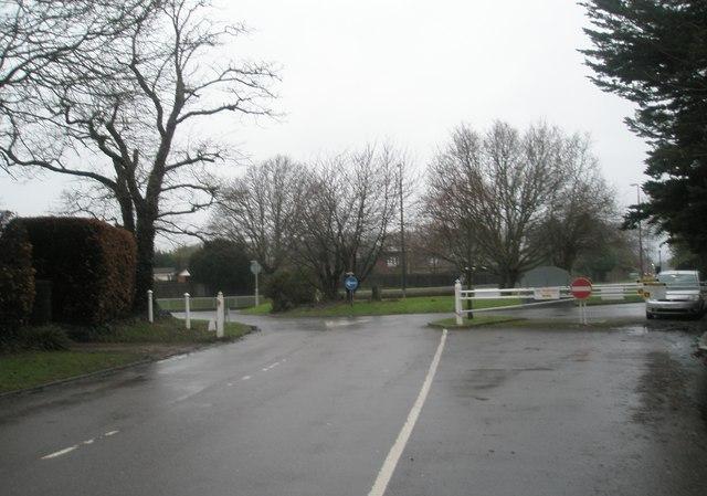 Top end of Angmering Lane