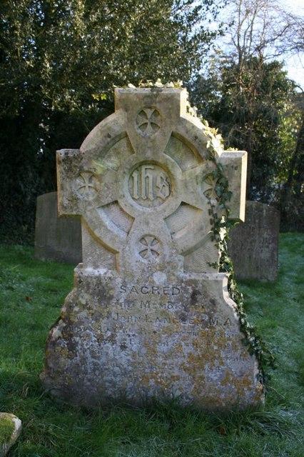 Headstone in the graveyard