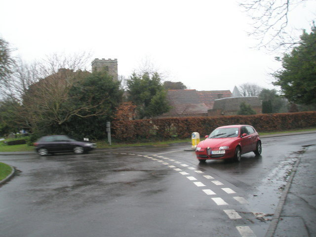 The church roundabout at East Preston