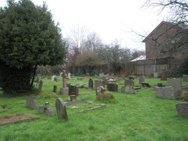 A very wet St Mary's Churchyard (1)