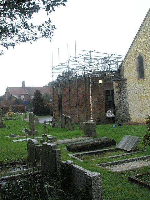 A very wet St Mary's Churchyard (7)