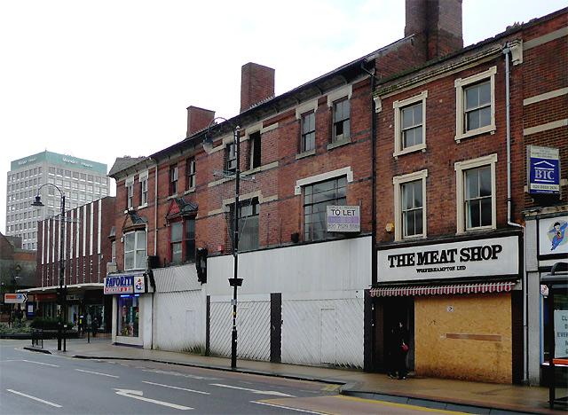 Derelict shops, Victoria Street, Wolverhampton