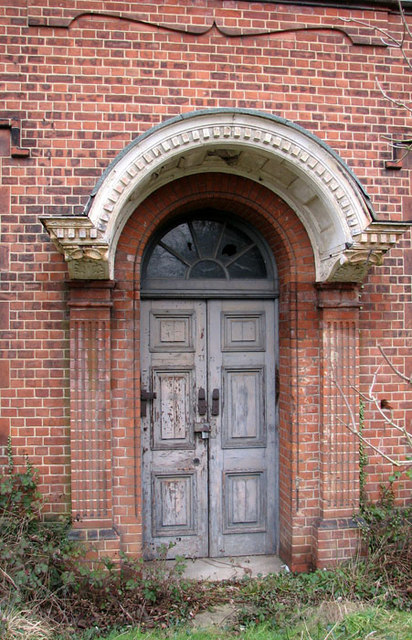 Trowse pumping station - ancillary building (doorway)