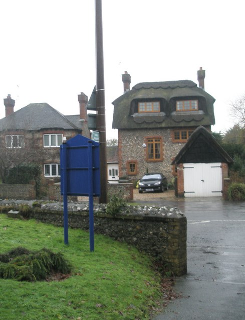 Unusual thatched house in Station Road