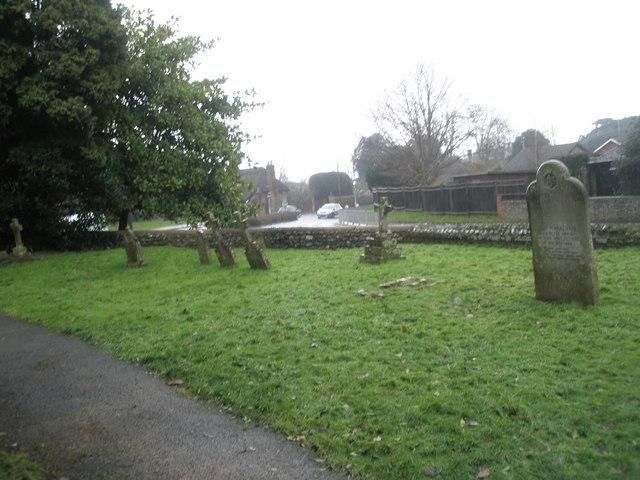 A very wet St Mary's Churchyard (13)