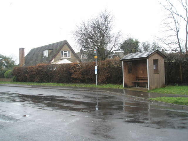 Simple bus shelter in Station Road