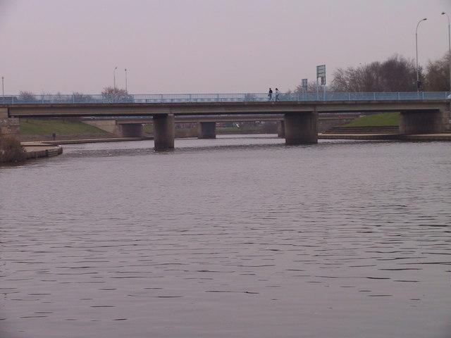Roadbridges across the River Exe