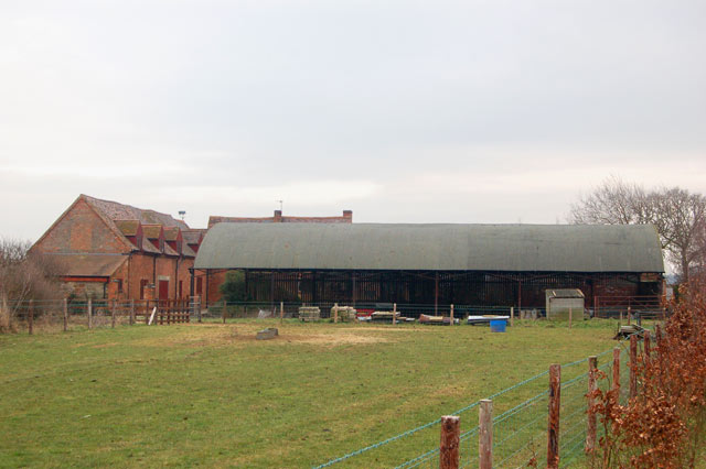 Old and new barns at Top Farm