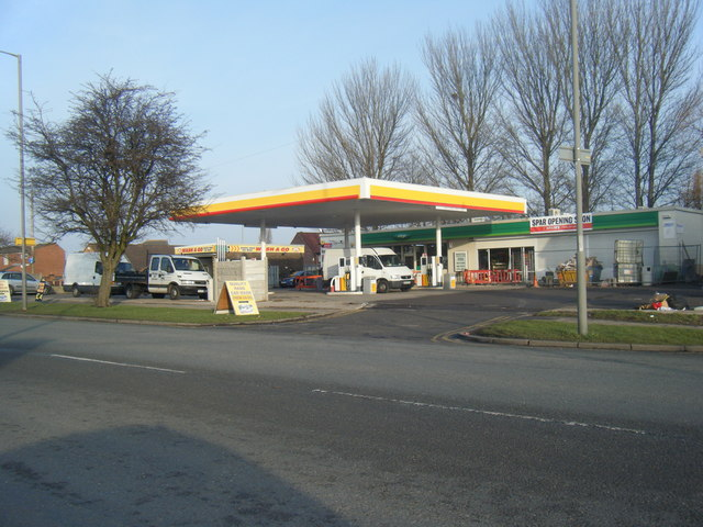 Childwall Valley Road filling station.