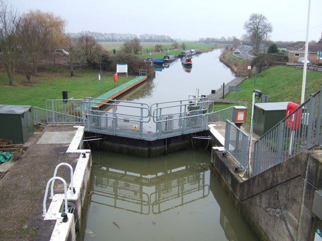 Lock gates on the Great Ouse at Earith