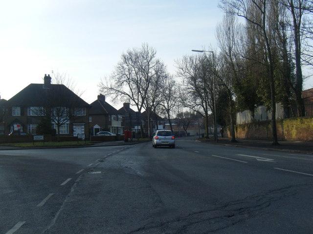 Rocky Lane/Bowland Avenue junction.