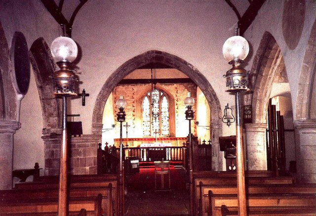 Interior of St. Mary's, Welsh Newton, Herefordshire