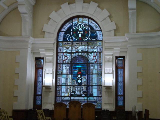 Stained Glass Window in Pollokshields Burgh Hall