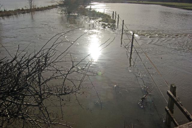 Flooding near Twyford