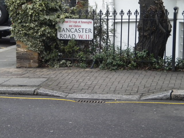 Street sign, Lancaster Road NW11
