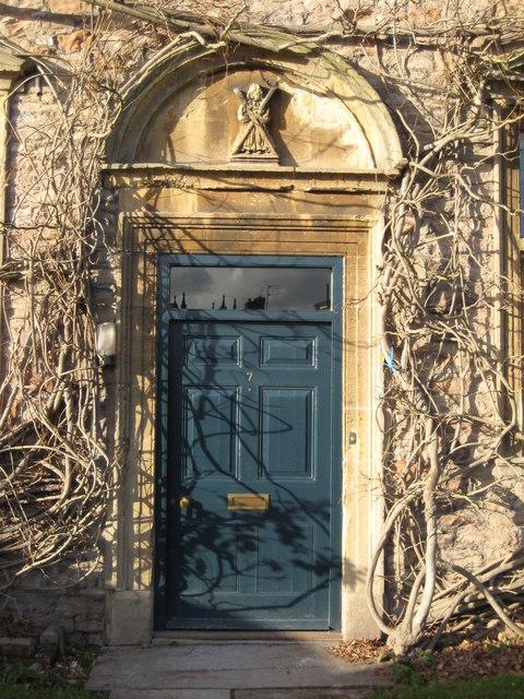 Door to St Andrews Lodge, Wells