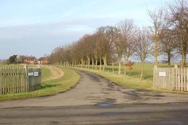 East entrance to Newfields Farm