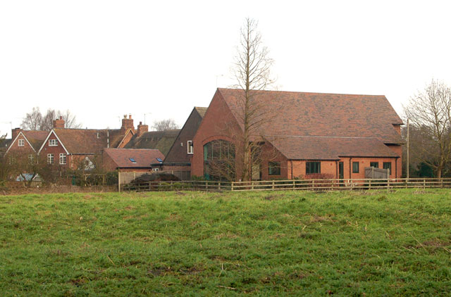 View across the field to Eathorpe village hall