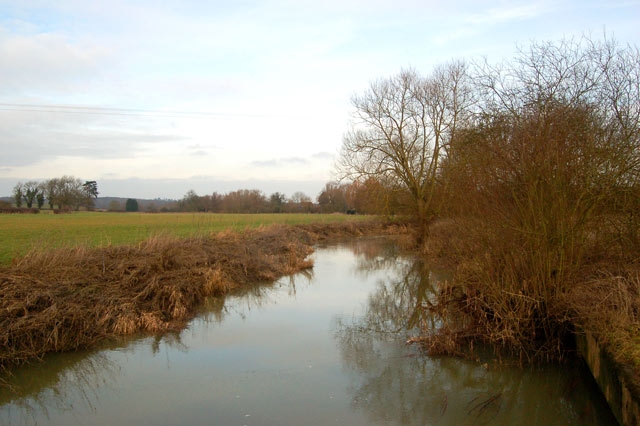 River Leam north of Eathorpe waterworks